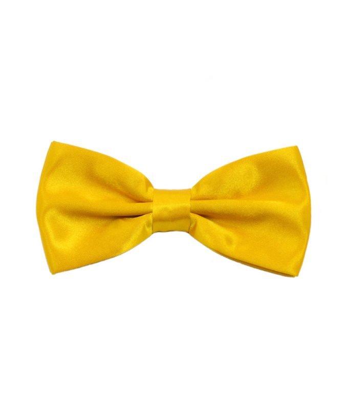 Бабочка атлас желтая, однотонная