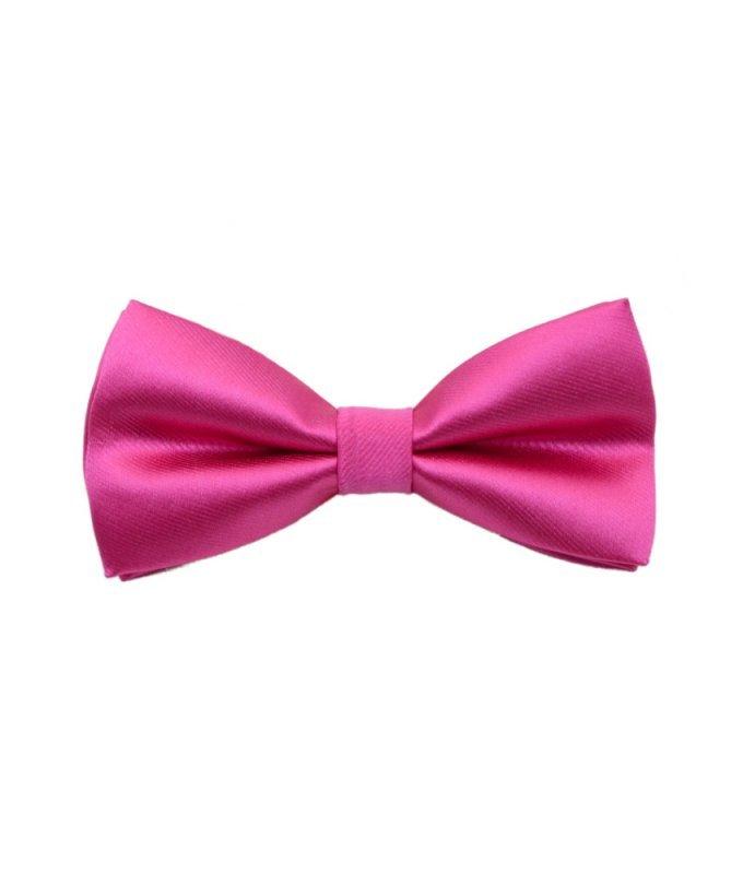 Бабочка атлас розовая, однотонная