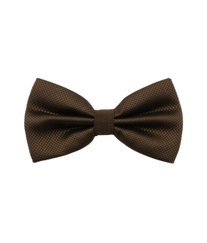 Бабочка Elsago коричневая, однотонная
