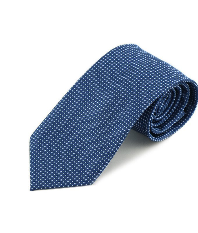 Галстук Andrew White синий, мелкий орнамент