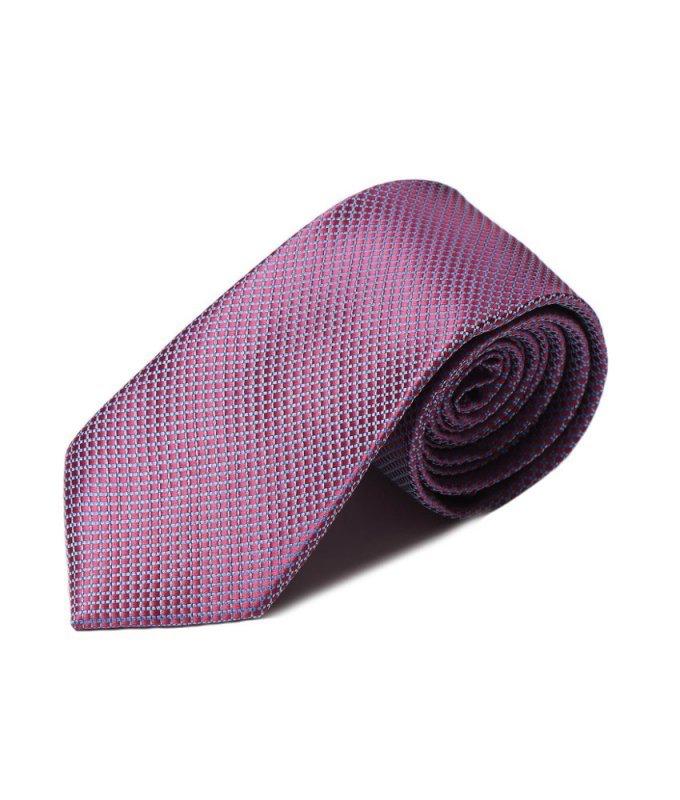 Галстук Andrew White розовый, мелкий орнамент