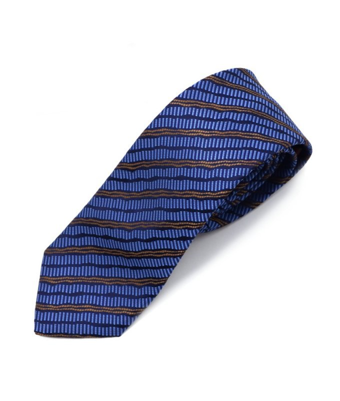 Галстук Vester синий, в полоску