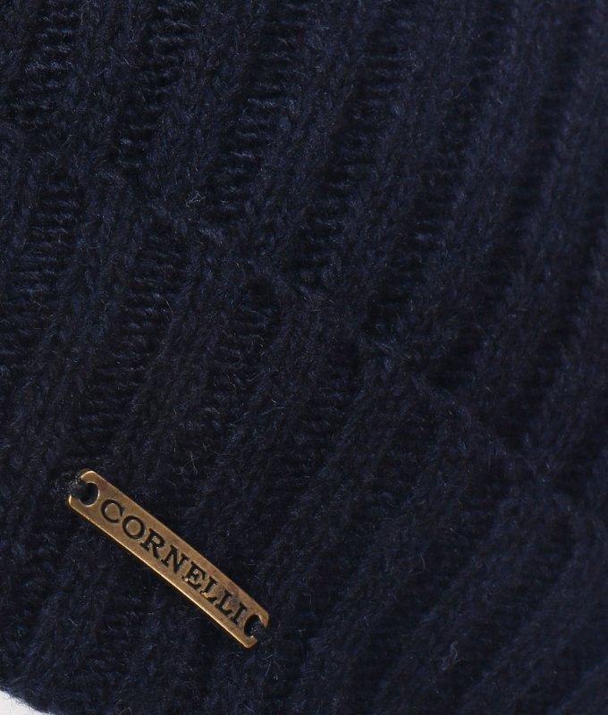 Шапка Roberto Cornelli синяя, однотонная