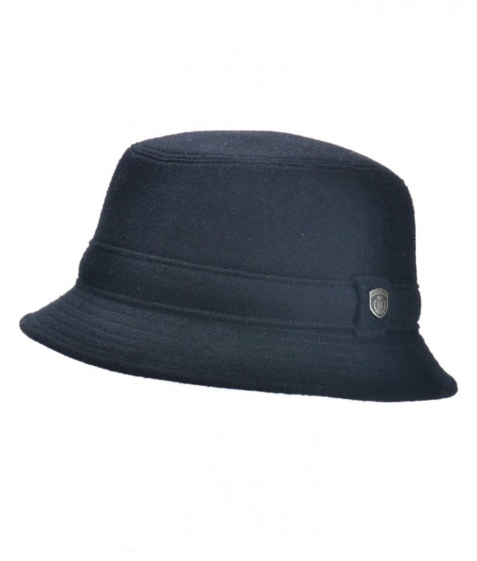 Шляпа Roberto Cornelli черная, однотонная