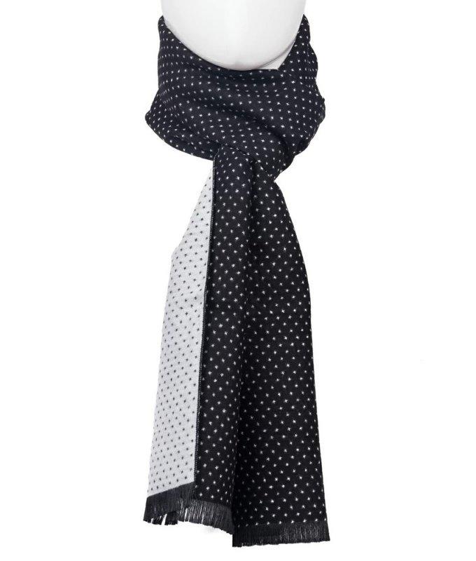 Шарф Roberto Gabbani черный, с узором