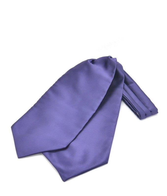 Шейный платок Andrew White фиолетовый, однотонный