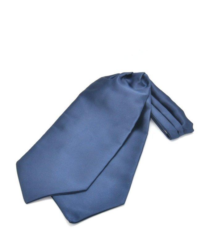 Шейный платок Andrew White синий, однотонный