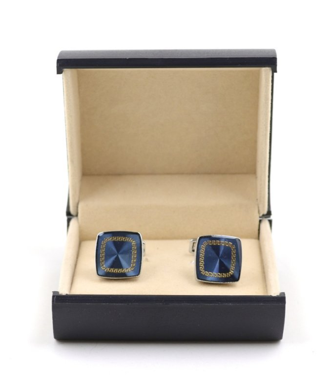 Запонки Elsago голубые