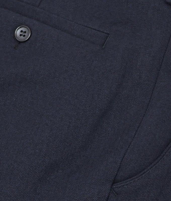 Брюки классические Baron синие, однотонные, утепленные (плотная ткань)
