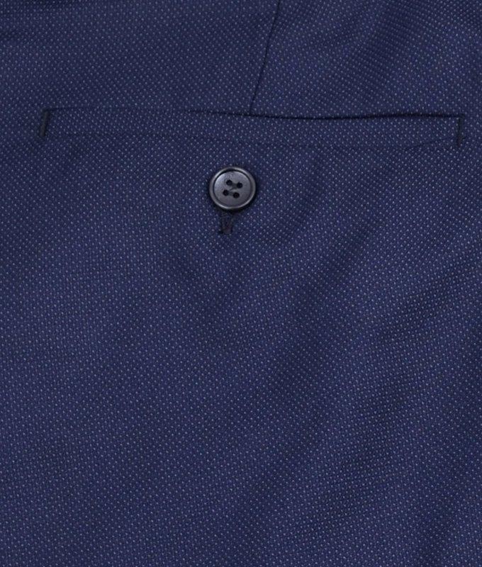 Брюки классические Baron синие, мелкий орнамент