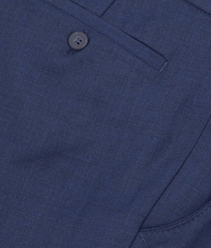 Брюки классические Baron синие, однотонные