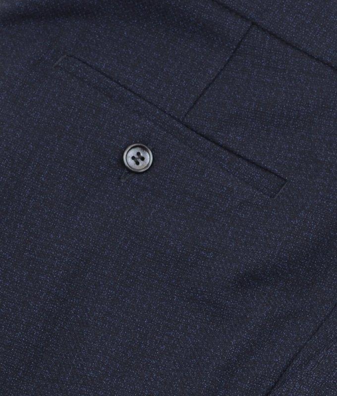 Брюки классические Baron синие, мелкий орнамент, утепленные (плотная ткань)
