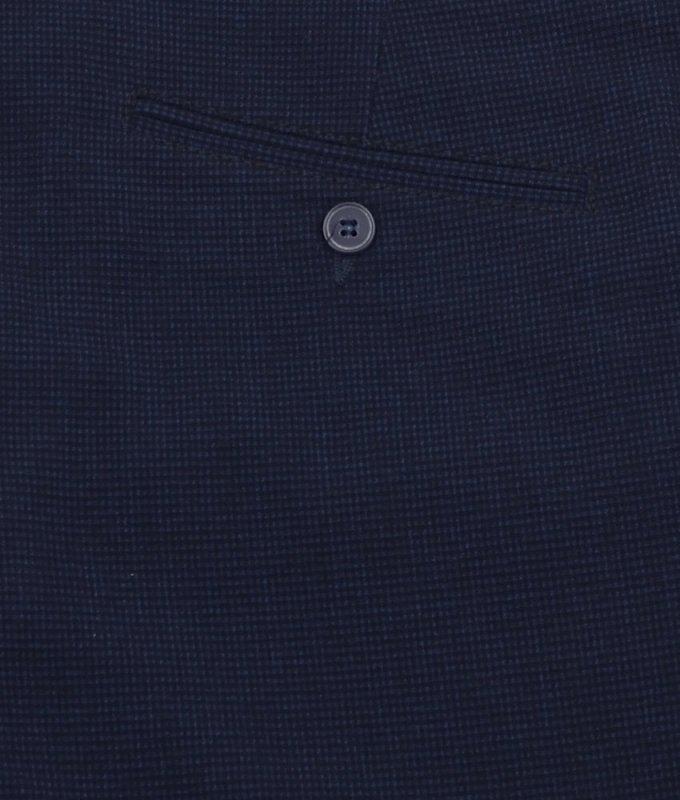 Брюки без стрелок Boston синие, в клетку, утепленные (плотная ткань)
