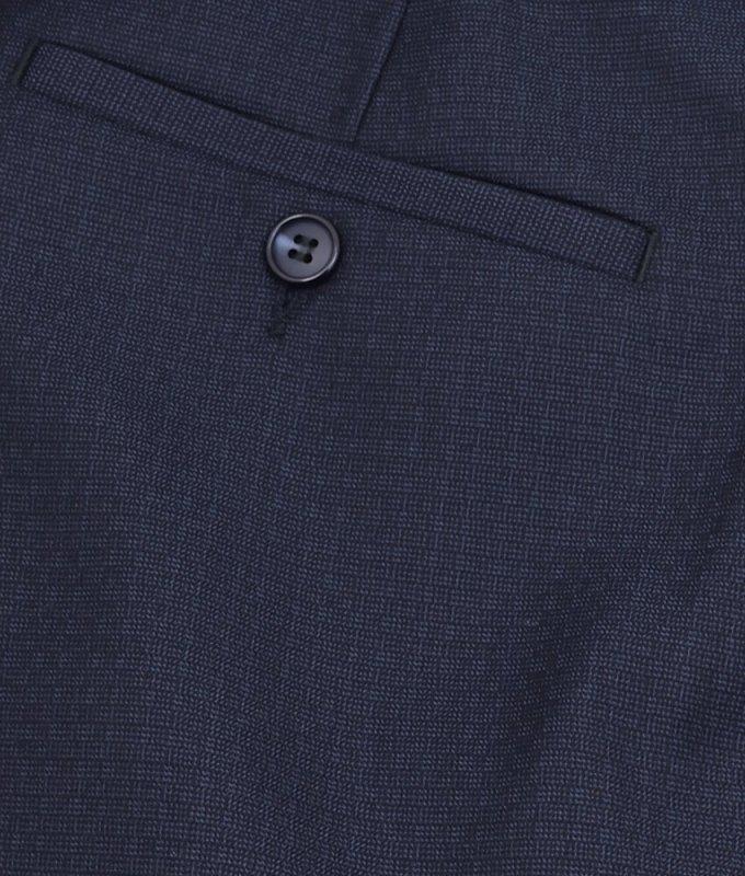 Брюки классические Boston синие, однотонные, утепленные (плотная ткань)