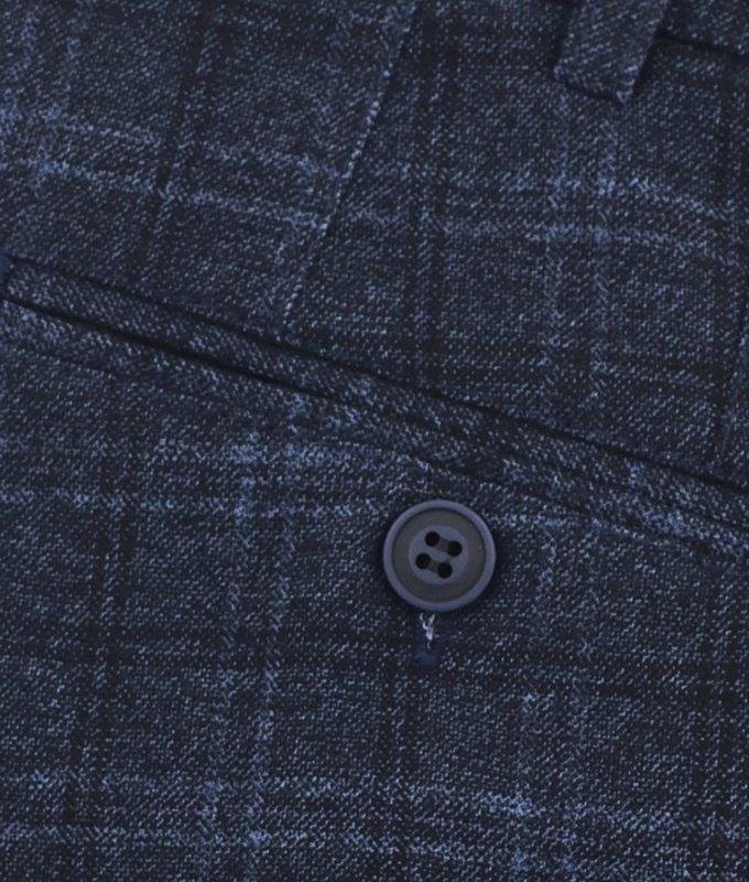 Брюки без стрелок Magmen синие, в клетку, утепленные (плотная ткань)