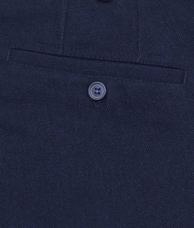 Брюки без стрелок Magmen синие, мелкий орнамент, утепленные (плотная ткань)