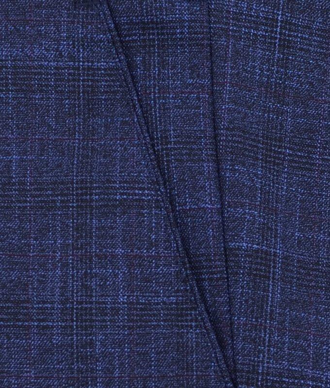 Брюки классические Magmen синие, мелкий орнамент