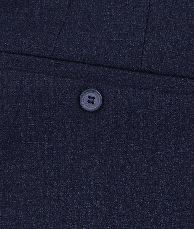 Брюки классические Magmen синие, мелкий орнамент, утепленные (плотная ткань)