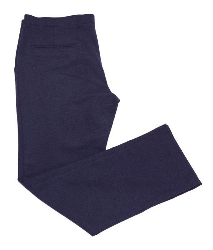 Брюки без стрелок Truvor синие, однотонные, утепленные (плотная ткань)