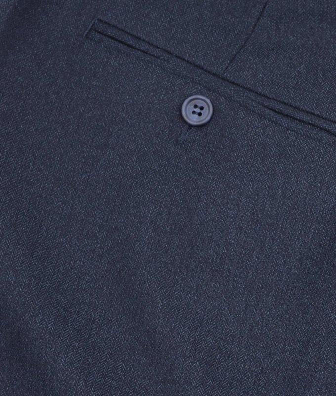 Брюки классические Truvor синие, мелкий орнамент, утепленные (плотная ткань)