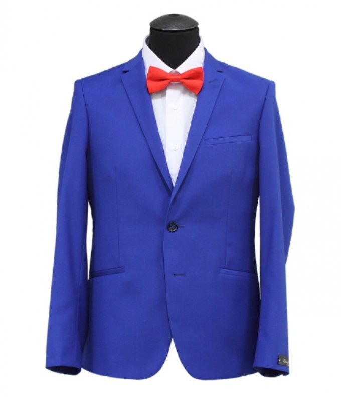 Костюм DimArk синий, однотонный, приталенный силуэт