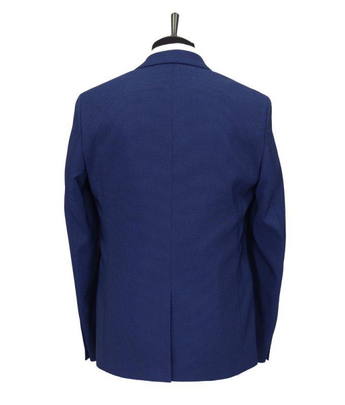 Костюм DimArk синий, мелкий орнамент, приталенный силуэт