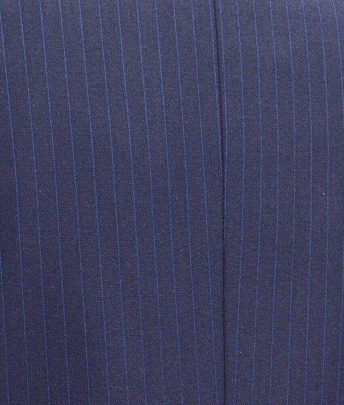 Костюм Truvor синий, в полоску, приталенный силуэт