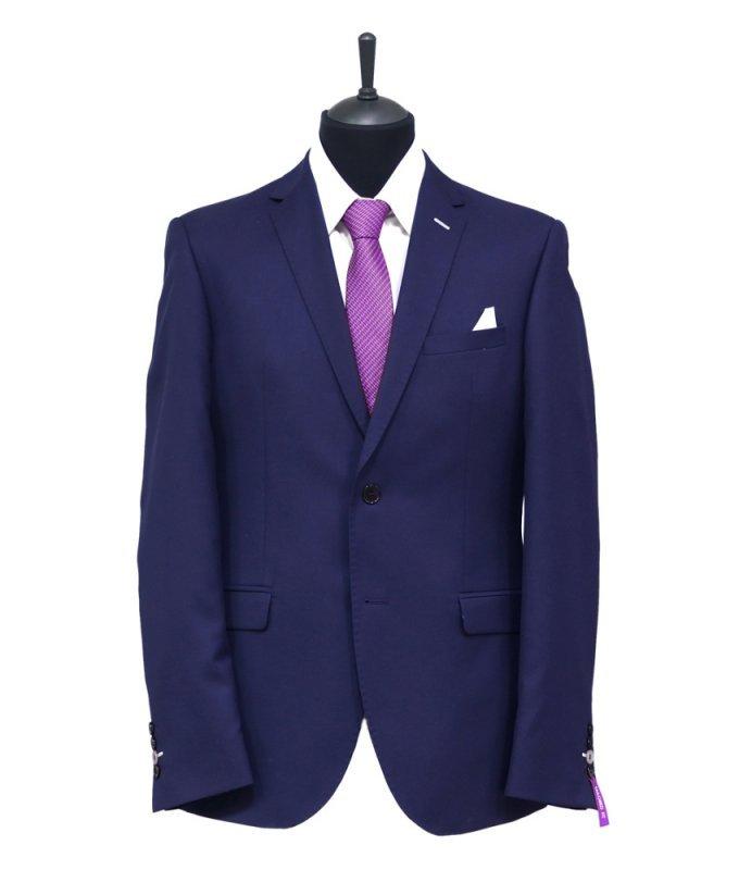 Костюм Truvor фиолетовый, однотонный, приталенный силуэт