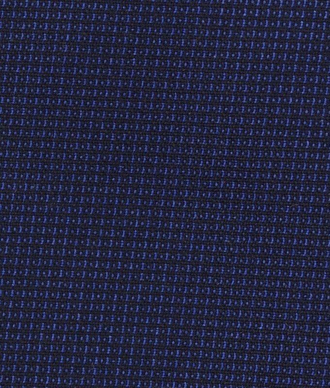 Костюм тройка Truvor синий, мелкий орнамент, приталенный силуэт
