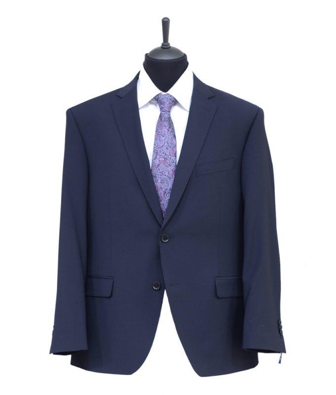 Костюм Truvor синий, однотонный, классический силуэт