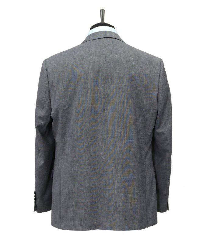 Костюм Truvor серый, однотонный, полуприталенный силуэт
