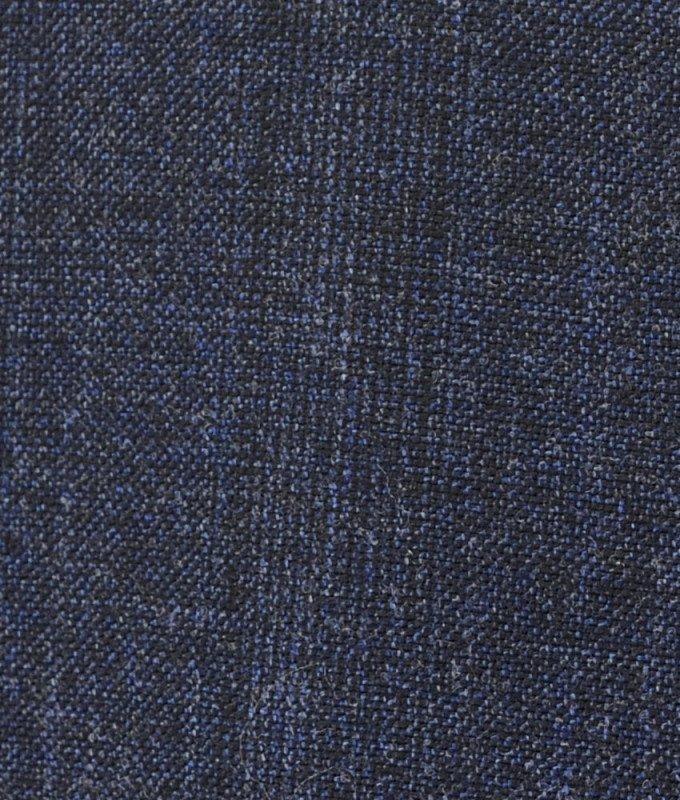 Костюм тройка Truvor синий, мелкий орнамент, полуприталенный силуэт