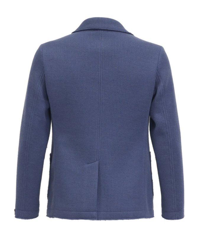 Пиджак трикотажный Diboni синий, в полоску