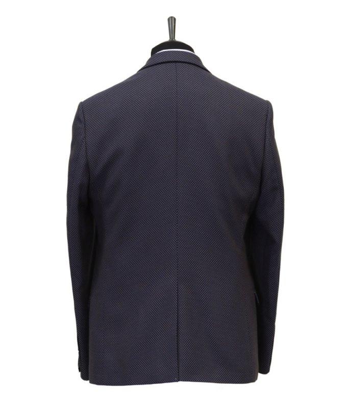 Пиджак Magmen фиолетовый, с узором, приталенный силуэт