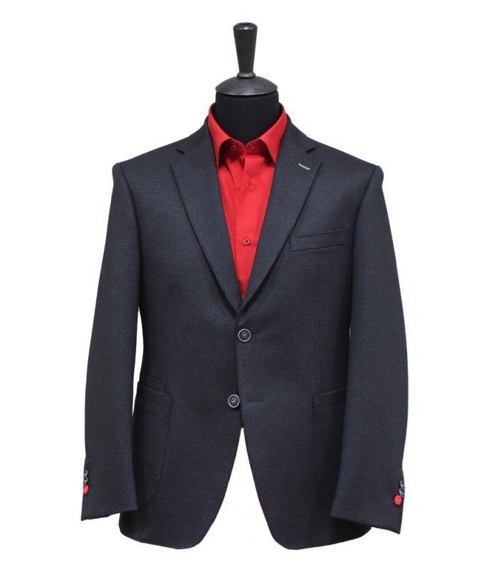 Пиджак Truvor черный, однотонный, приталенный силуэт