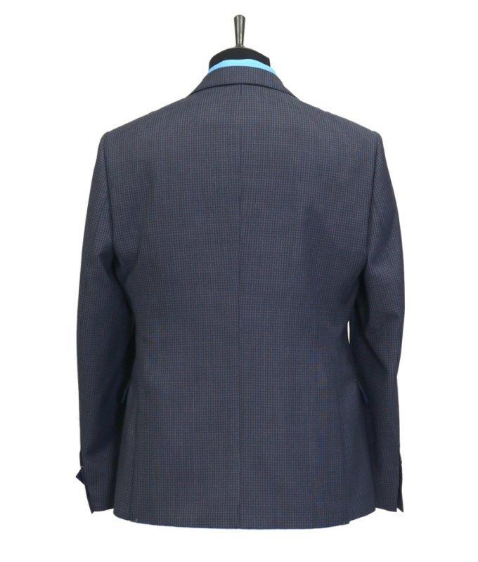 Пиджак Truvor серый, в клетку, приталенный силуэт