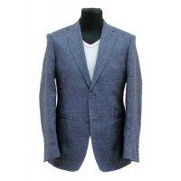 Пиджак Truvor синий, мелкий орнамент, очень приталенный силуэт