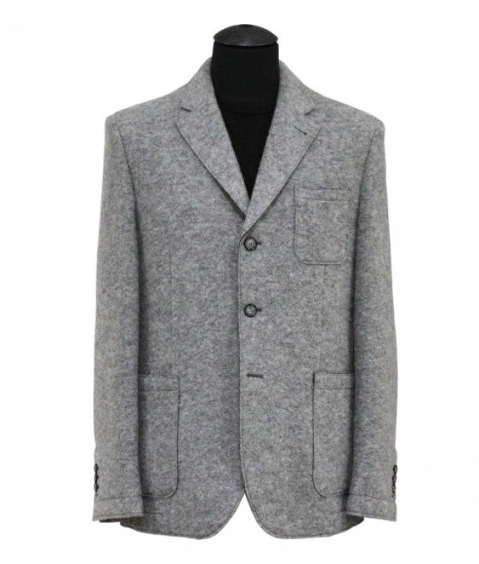 Пиджак Truvor серый, мелкий орнамент, классический силуэт