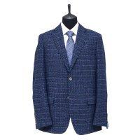 Пиджак Truvor синий, мелкий орнамент, классический силуэт
