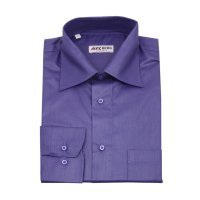 Рубашка Alex Berg фиолетовая, однотонная, классический силуэт