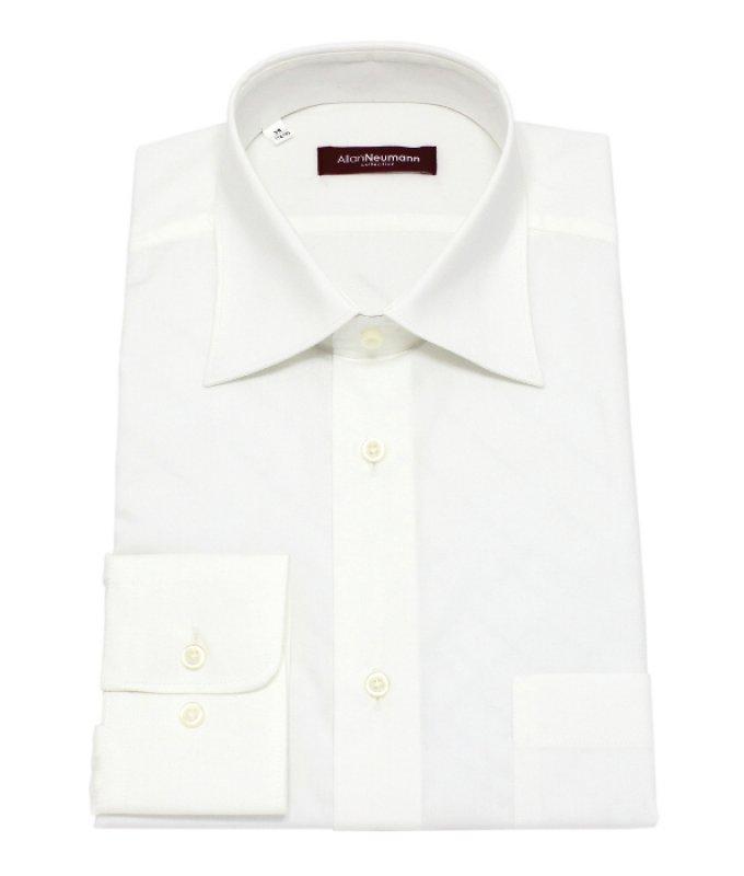 Рубашка Allan Neumann цвета айвори, однотонная, классический силуэт