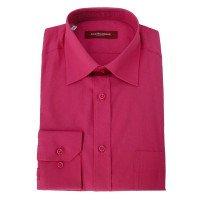 Рубашка Allan Neumann розовая, однотонная, классический силуэт