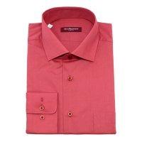 Рубашка Allan Neumann красная, однотонная, приталенный силуэт
