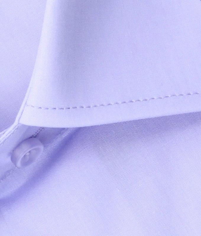 Рубашка Allan Neumann сиреневая, однотонная, приталенный силуэт