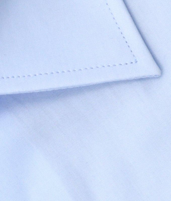 Рубашка Allan Neumann голубая, однотонная, классический силуэт