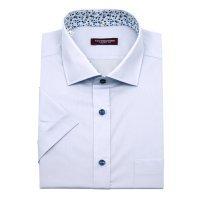 Рубашка Allan Neumann серая, однотонная, классический силуэт