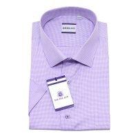 Рубашка Berlot фиолетовая, в клетку, классический силуэт