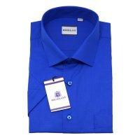 Рубашка Berlot синяя, однотонная, классический силуэт