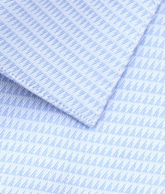 Рубашка Berlot голубая, мелкий орнамент, классический силуэт, короткий рукав