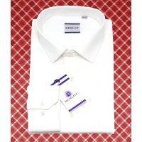 Рубашка Berlot бежевая/молочная, однотонная, классический силуэт